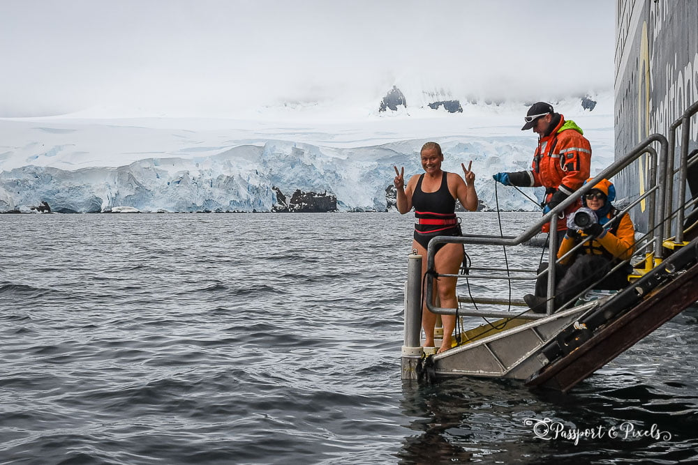 Doing the Polar Plunge in Antarctica